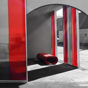 mobilier urbain banc bois et acier. Black Bedroom Furniture Sets. Home Design Ideas